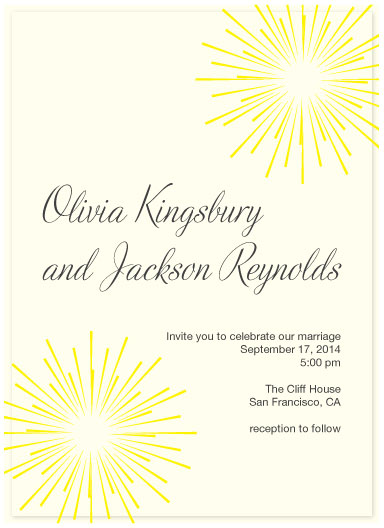 wedding invitations - fireworks by Jen Soll