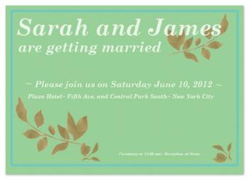 Gold Leaf Love Wedding Invitations