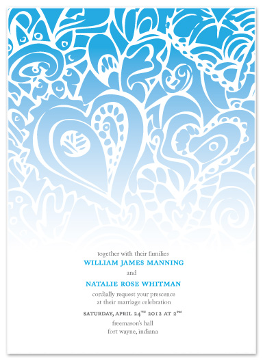 wedding invitations - Falling Hearts by ArtSplott
