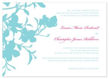 Spring Dogwood  Wedding Invitations
