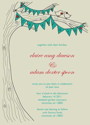 wedding invitations - Birds and Banners by Annada Hypes