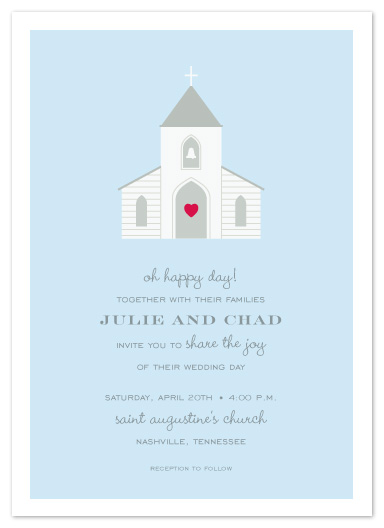 wedding invitations - chapel of love by Sara Hicks Malone