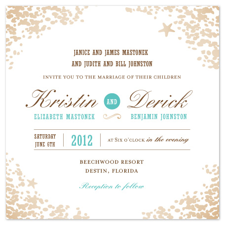 wedding invitations - Sweet Sands by Melissa Albers