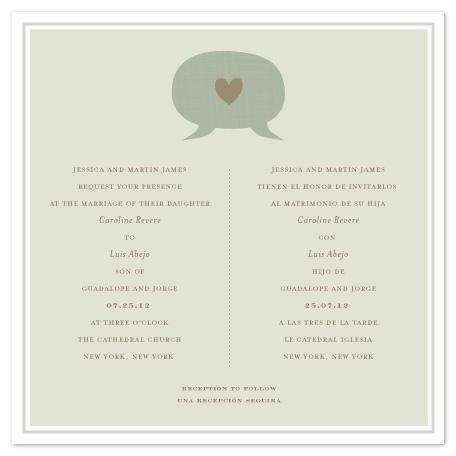 wedding invitations - language of love by Sara Malone