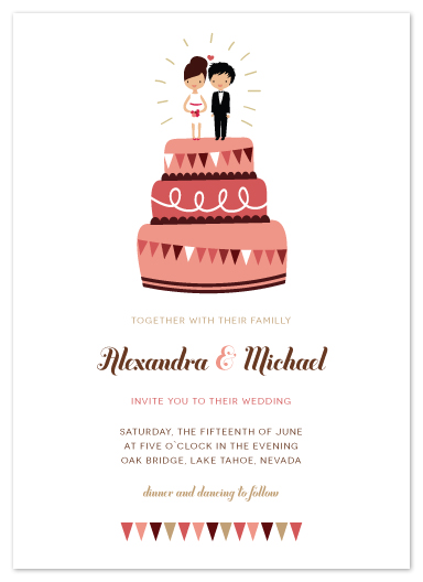 wedding invitations - cake toppers by Zory Mory