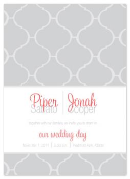 Fancy Tile Wedding Invitations