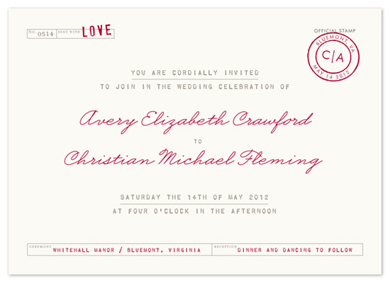 wedding invitations - telegram by The Social Type