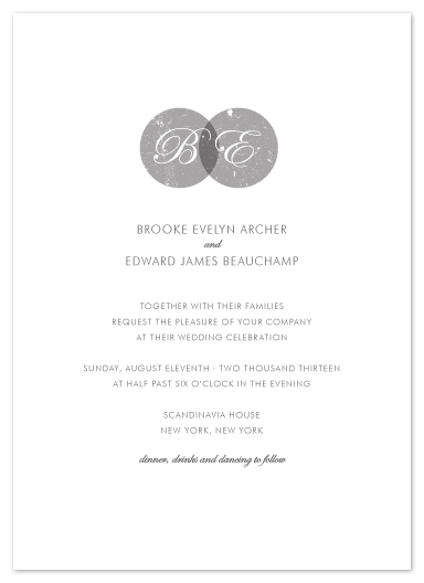 wedding invitations - Double Monogram by Kylie Holmes