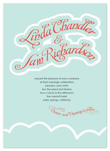 wedding invitations - Up in the clouds by Chamelle Designs
