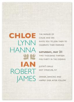 aligned for each other Wedding Invitations