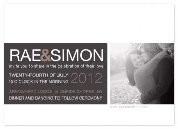 monochromatic love Wedding Invitations