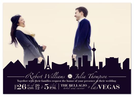 wedding invitations - Vegas Silhouette by Janelle Otsuki