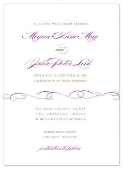 Flourished Elegance Wedding Invitations