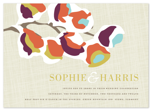 wedding invitations - Autumn Snow by Kristie Kern