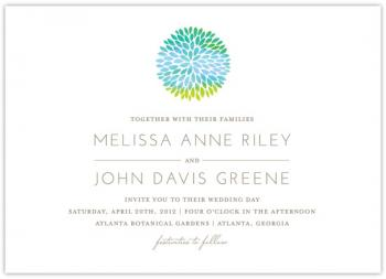 A Simple Splash of Color Wedding Invitations