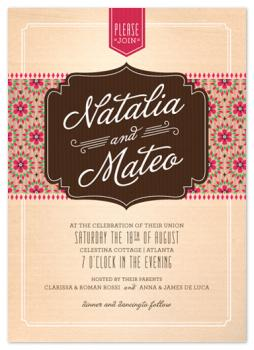 Biscotti Café Wedding Invitations
