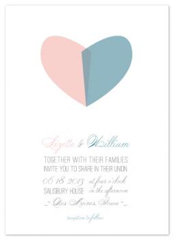 Hearts Unite Wedding Invitations