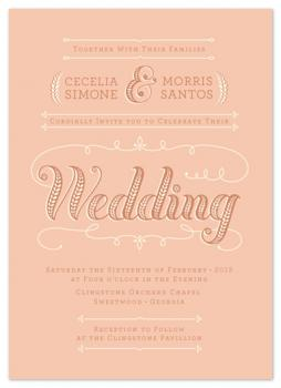 Peaches & Cream Wedding Invitations