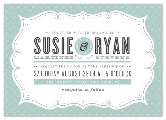 wedding invitations - Modern Label by Kristen Smith