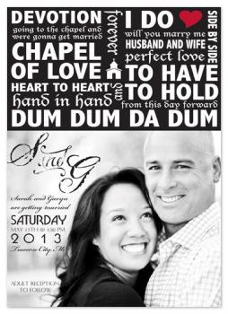 Chapel of Love Wedding Invitations