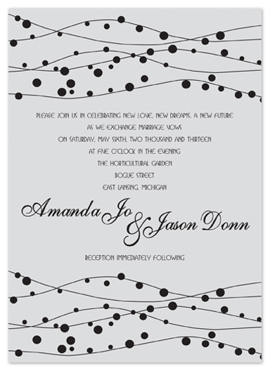 wedding invitations - Silver Bells by Stephanie Blaskiewicz