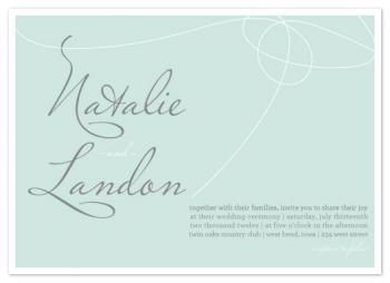 Scripted Name Tie Wedding Invitations