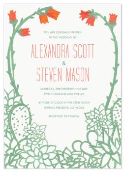 Painted Succulents Wedding Invitations