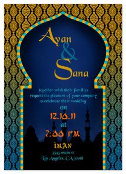 Arabian Nights Wedding Invitation