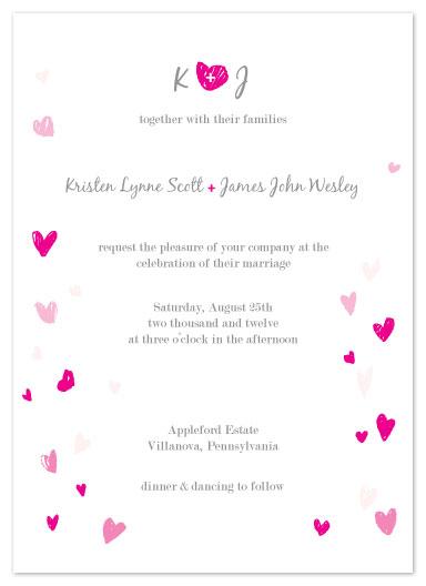 wedding invitations - Lovely heart by Dana Wyatt