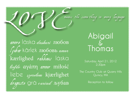 wedding invitations - Language of Love by Lisa Zizza McSweeney