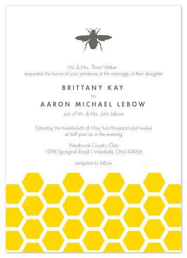 wedding invitations - Honey Bee by Andi Pahl