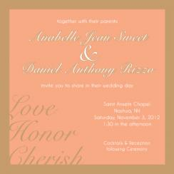 Love, Honor, Cherish Wedding Invitations