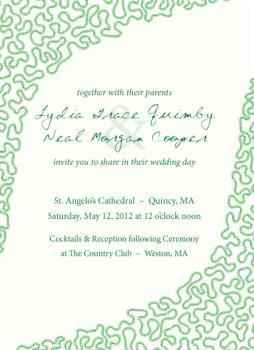 Trapunto Wedding Invitations