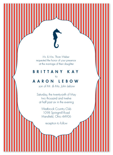 wedding invitations - Nautical Destination by Andi Pahl