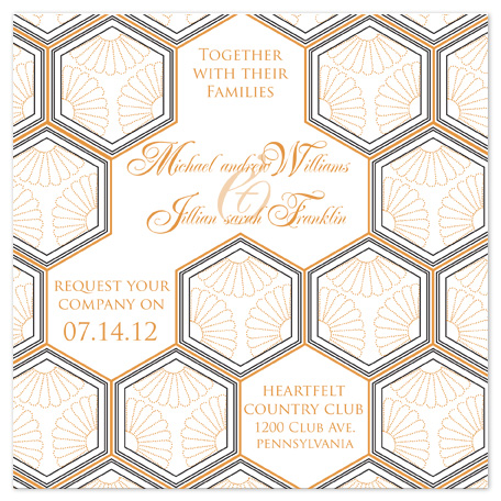 wedding invitations - HONEYCOMB by Colleen Bathon