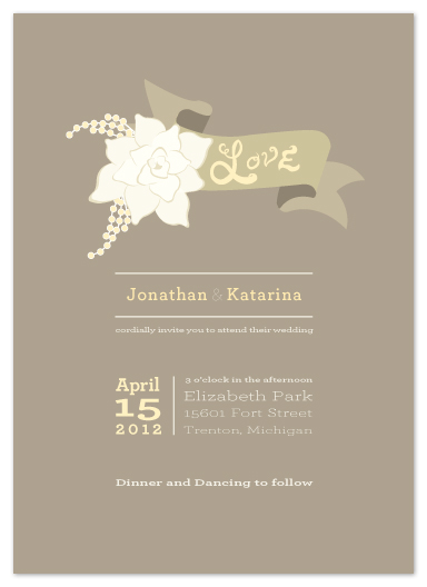 wedding invitations - I'll Melt With You by Dreaming Inspirations