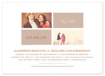 Star Gazing Multi-Photo Wedding Invitations