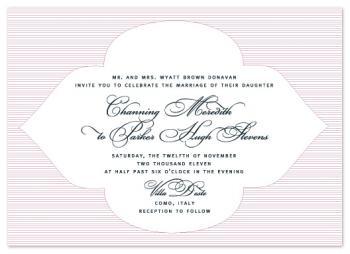 Channing Wedding Invitations