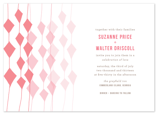 wedding invitations - Obstreperous by beth perry DESIGN