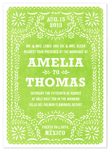 wedding invitations - fiesta folk art by root beer float
