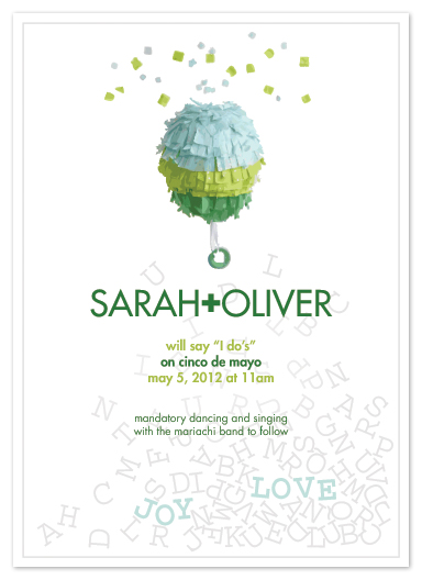 wedding invitations - confetti celebration by moca