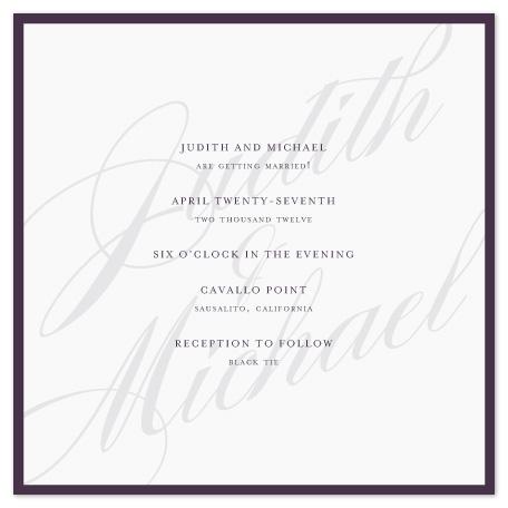 wedding invitations - Framed by roxy