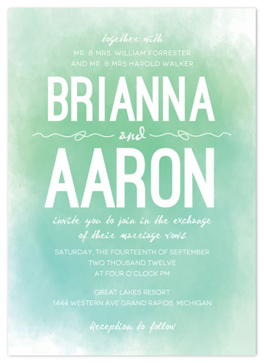 wedding invitations - A Light Wash by Bleu Collar Paperie