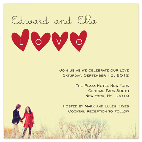 wedding invitations - Love Hearts by Kate Terhune