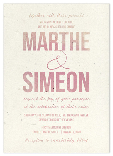 wedding invitations - Watercoloured by Bleu Collar Paperie