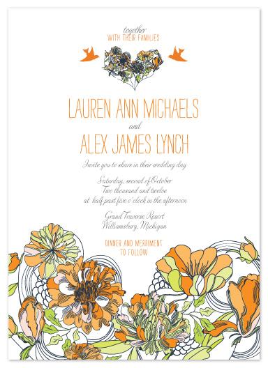 wedding invitations - Boho Love Heart by Citrus Press Co.