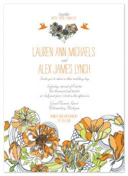 Boho Love Heart Wedding Invitations