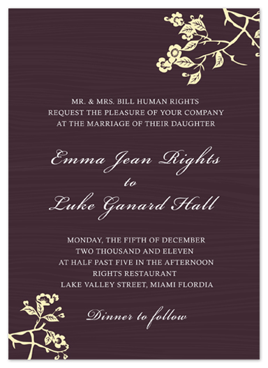 wedding invitations - Tree Branch by aticnomar