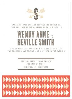 Shot Through the Heart Wedding Invitations