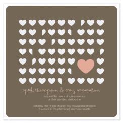 flutter hearts Wedding Invitations